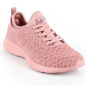 Pale pink blush monochrome sneakers size 6.5